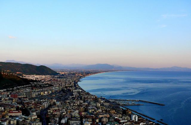 Salerno   sunset panorama